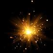 canvas print picture - burning sparkler