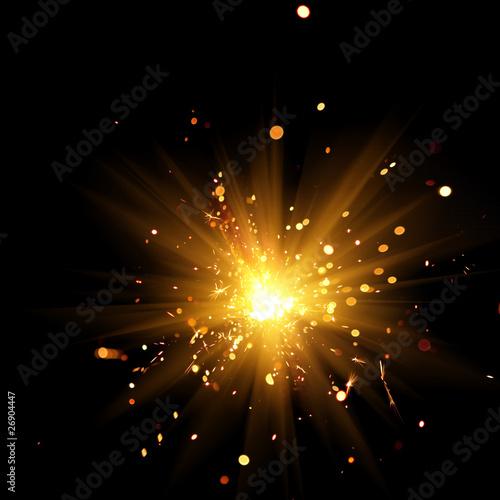 Fototapeta burning sparkler