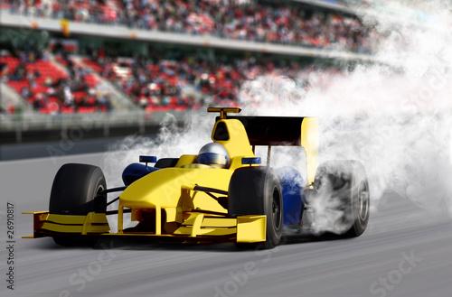 Deurstickers Snelle auto s Formula One Speed Car