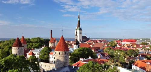Old Tallinn in summer