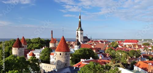 Photo  Old Tallinn in summer