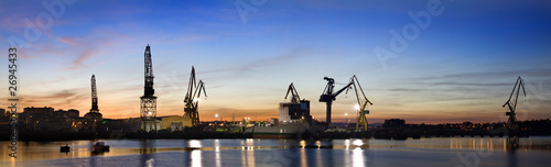 ZOna industrial (panorama) Canvas Print