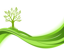 Green Nature Background. Eco C...