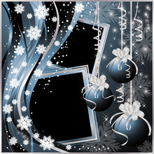 Two Christmas Frameworks In Scrapbooking Style. Vector