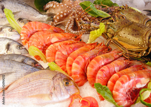 fresh seafood Canvas Print