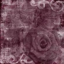 Vintage Floral Grunge Scrapboo...
