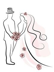 Naklejka Wedding couple