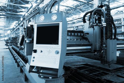 Fotografie, Obraz  new and powerful metalworking machine