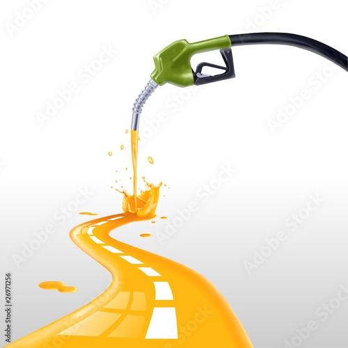 Photo benzina che fa strada