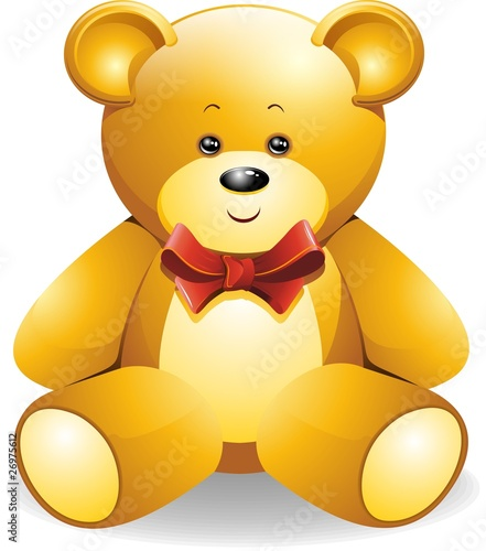 Orsetto Peluche con Fiocco-Teddy Bear-Vector #26975612
