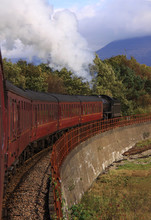 Steam Train Travelling Towards...
