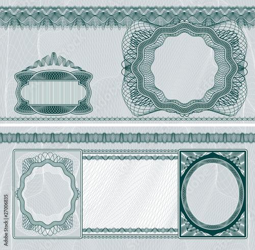 Fotografía  Blank banknote layout