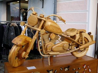 Fototapeta Motor Motocicletta di legno