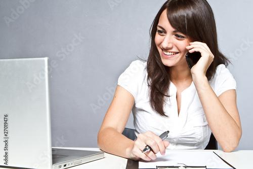 phonecall in office Fototapeta