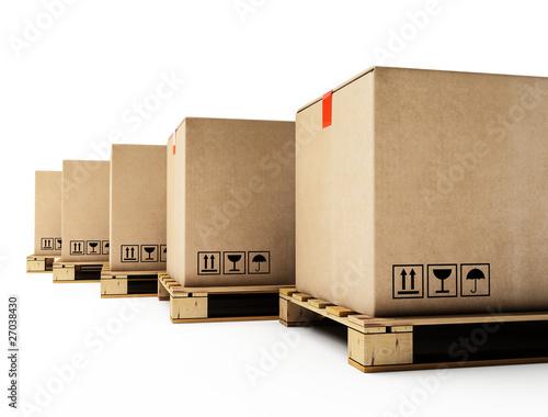 Fotografie, Obraz  wooden shipping pallet