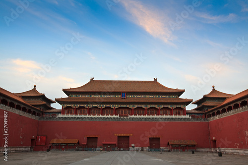Foto op Aluminium Beijing The Meridian Gate. Forbidden City in Beijing, China.