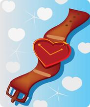 Love Shape Wrist Watch