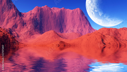 Cadres-photo bureau Rouge colorful space landscape