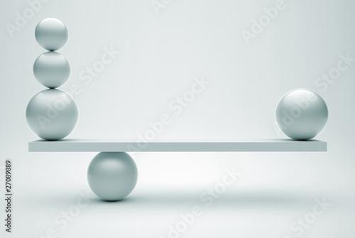 Obraz na płótnie Spheres in balance