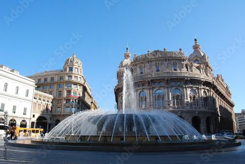 Genova, Piazza De Ferrari плакат