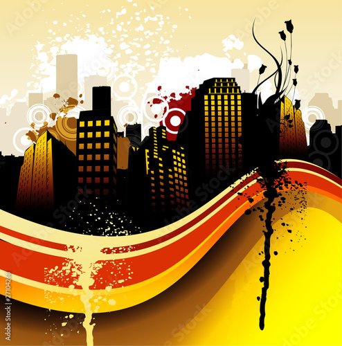color city abstract vector