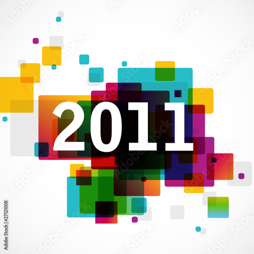 Poster  New Year 2011 - funky graphic design