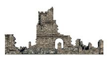 Ruine Freigestellt