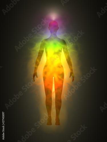 Fotografía  Human energy body, aura, chakra, energy