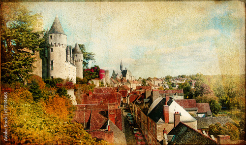 Poster Paris Montresor castle - Loire valley -artistic picture