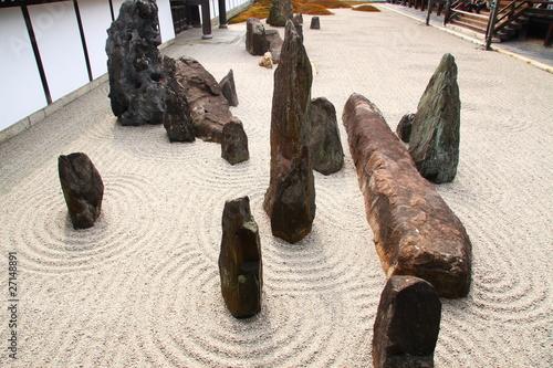 Photo sur Plexiglas Zen pierres a sable Jardin de pierres (Kyoto, Japon)