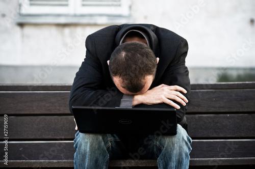 Valokuva  homme d'affaire déprimé