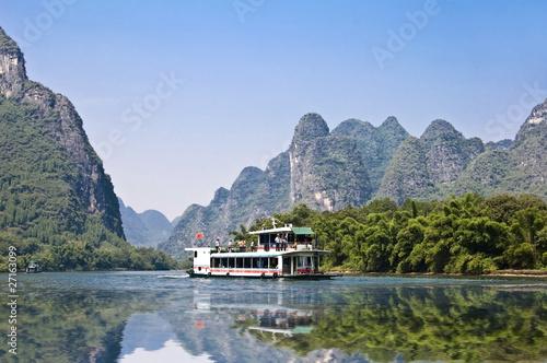 Li river near  Guilin - Guangxi, South China Fototapet