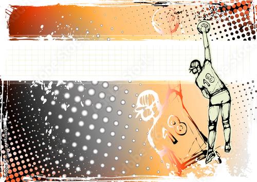 orange volleyball background - 27168200