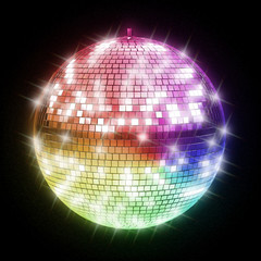 Fototapeta colorful disco ball