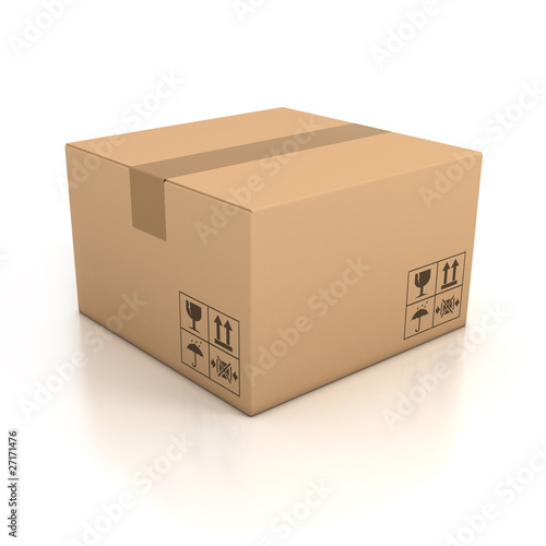 Fotografía  cardboard box