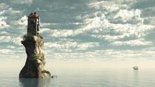 Tower Castle On Rock