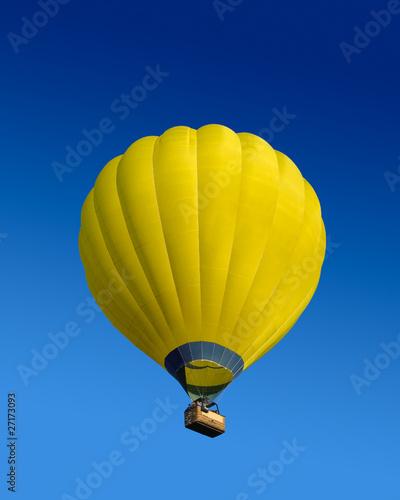 In de dag Ballon Yellow hot air balloon