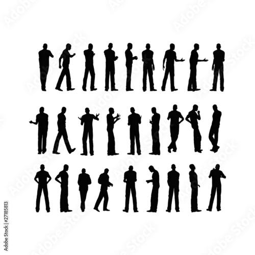 Silhouette Uomo Canvas-taulu
