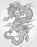 Azjatycki tatuaż smoka