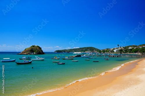 Spoed Foto op Canvas Brazilië Beach of Buzios, Brazil