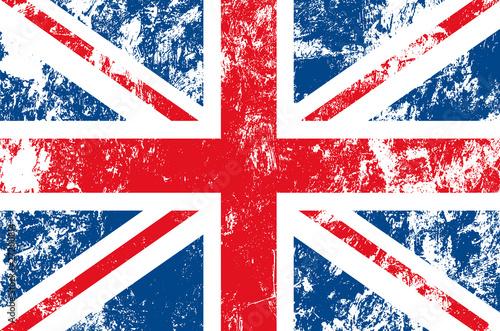 Cuadros en Lienzo drapeau anglais usé