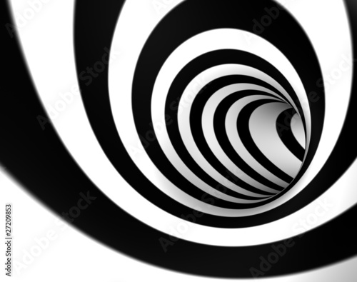 Fototapety przestrzenne  3d-wizerunek-abstrakcjonistyczny-zawijas-lub-tunel