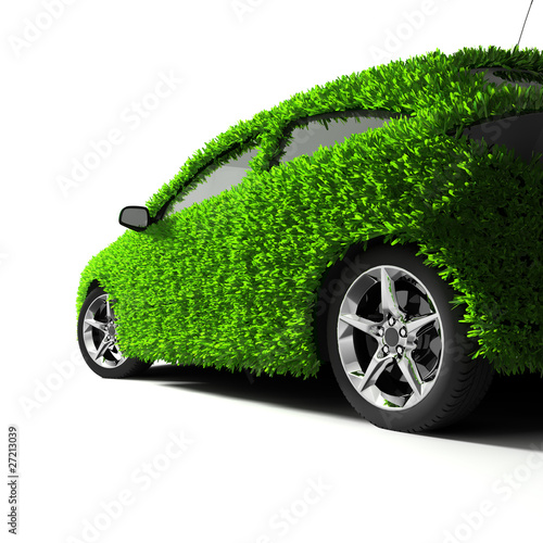 The metaphor of the green eco-friendly car #27213039