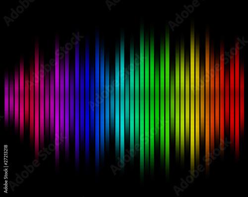 sound waves equalizer in blurred background Wallpaper Mural