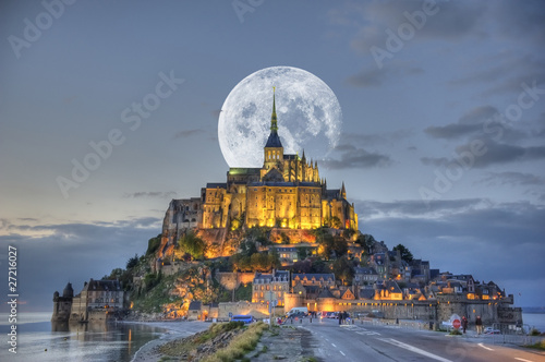 HDR du Mont-Saint-Michel Wallpaper Mural