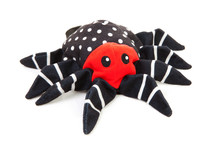 Fabric Spider Toy Over White B...
