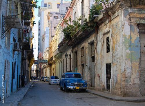 Türaufkleber Autos aus Kuba street car cuba