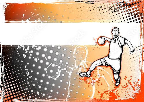 Foto-Vorhang - orange handball background (von Martin Cintula)