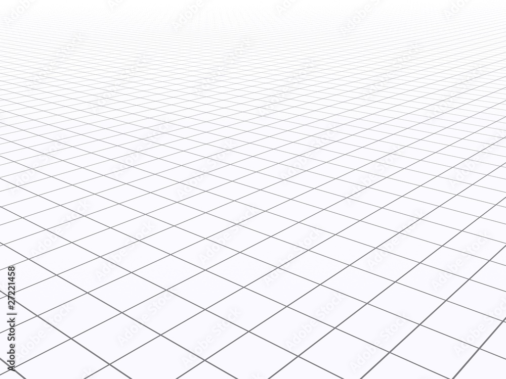 Fototapeta Infinite 3D grid