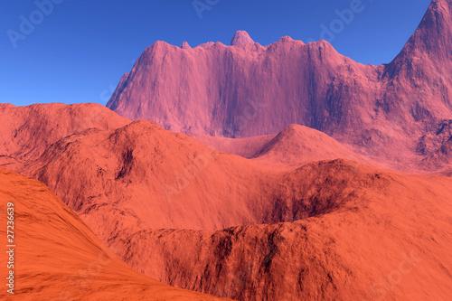 Papiers peints Corail fantastic mountains